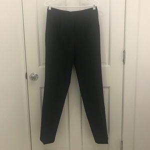 Lauren Ralph Lauren Gray Wool Straight Trousers 8